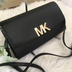 Michael Kors large Montgomery clutch Xbody bag